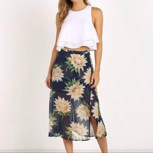 NEW Show Me Your Mumu Flirt Skirt Sunflower Dreams